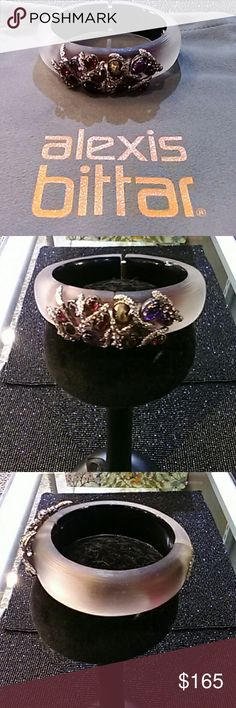 Alexis Bittar Bracelet - Todays Special - $115 Alexis Bittar Bracelet - Lucite, Stone and Crystal, Lucite is Translucent Purple in Color with Black Backing, Stones are Red and Purple in Color, Crystals are Clear.  Magnetic Closure.  New with Bag. Alexis Bittar Jewelry Bracelets