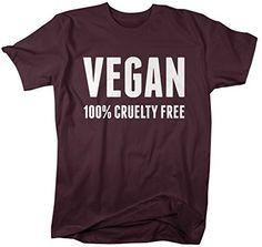 Shirts By Sarah Men's Vegan Shirt 100% Cruelty Free T-Shirt For Vegans