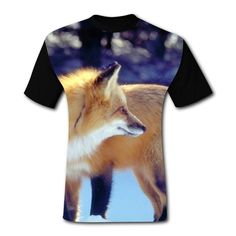 9b7daecb9d4a9e Mens TShirt Snow Fox Short Sleeve Casual Graphic T Shirts Tees Blouse for  Men