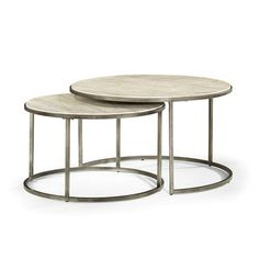 Hammary Modern Basics Round Cocktail Table W/ Textured Bronze Base