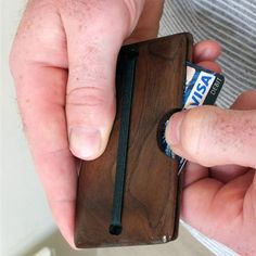 Card Wallet Walnut, 35€, now featured on Fab.