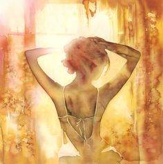 Sensual Art - silk painting by Olena Korolyuk Back Painting, Fabric Painting, Figure Painting, Painting People, Woman Painting, Fabric Photography, Goddess Art, Silk Art, Bedroom Art