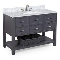 "KBC Hampshire 48"" Single Sink Bathroom Vanity Set & Reviews | AllModern"