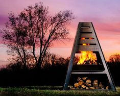 More than a fire pit. More than a grill. The Blaze Tower is a brag-worthy centerpiece for your backyard or favorite outdoor spot. Made in America. Fire Pit Gravel, Metal Fire Pit, Fire Pit Backyard, Backyard Bbq, Metal Chiminea, Cheap Fire Pit, Fire Pit Materials, Portable Fire Pits, Fire Pit Designs
