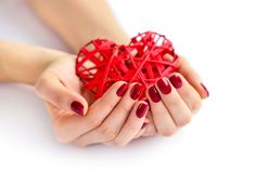 Buy Wicker red heart in woman's hands on white background. Closeup h by Nataljusja on PhotoDune. Wicker red heart in woman's hands on white background. Closeup heart in hand of girl with red manicure. Red Manicure, White Wicker, Ceramic Tableware, Healthy Life, Healthy Heart, Happy Valentines Day, Close Up, Stock Photos, Gifts