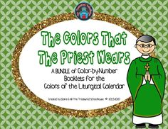 The Colors That the Priest Wears Color-by-Number Booklets