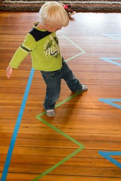 Walking along the lines of tape -- how many different ways can you walk along it?