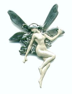 Large Art Nouveau Fairy Brooch / Pendant
