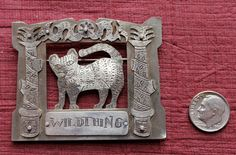 Wild Thing Brooch by beastmetalworks on Etsy, $375.00