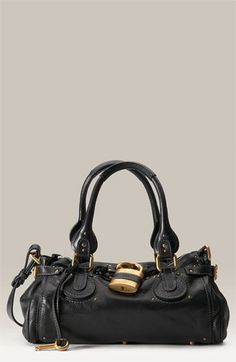 Chloé Paddington Leather Padlock Satchel In Black 1st Or 2nd Edition