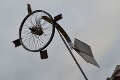 Wind Sculpture made from scrap by martiensbekker.co.uk Port Isaac Coast Path