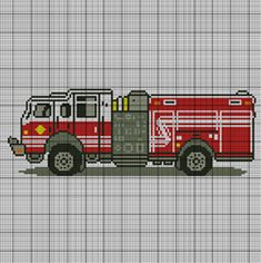 Fire Truck Crochet Pattern