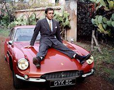 Peter Sellers on his '66 Ferrari 500 superfast