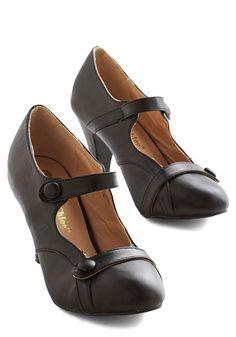 Wear Anywhere Heel in Noir, @ModCloth