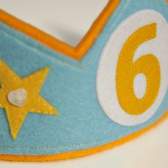 Felt Number 6 Birthday Crown - Folksy