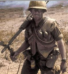 Vietnam 1968: a 9th Division machine gunner smokes a cigarette. Description from pinterest.com. I searched for this on bing.com/images