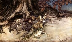 arthur rackham_peter pan in kensington gardens