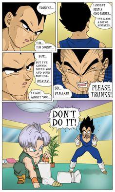 Dragon Ball Z Fan Art: Funny Vegeta and Trunks Vegeta Y Trunks, Dbz Memes, Dragon Ball Z Shirt, Funny Dragon, Good Good Father, Fandoms, Fan Art, Baby Trunks, Humor