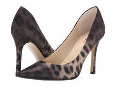 Pantofi stiletto Guess cu varf ascutit animal print