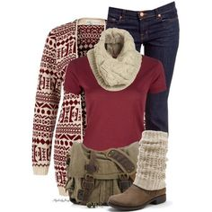 """Casual Outfit with 3 Featured Items"" by stylesbyjoey on Polyvore (all but the boots)"