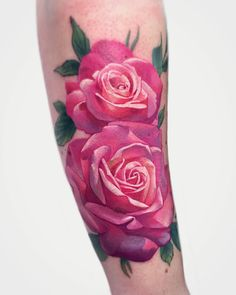 Tattoo artist Janice Bao Bao color authors style illustrative neo traditional tattoo for girls, flowers | Canada