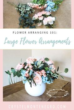 Flower arranging 101: How to make a large flower arrangement with faux flowers