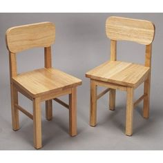 Gift Mark Children's 2 Chair Set Designed to match 1407N Table, Natural