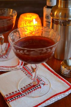 The Trinidad Sour Cocktail is the most romantic cocktail in the world...with a deep crimson color and seductive flavor, it's a must for Valentine's Day!