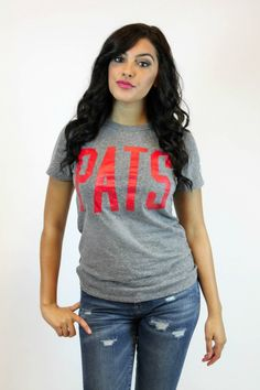 Look cute and patriotic at the tailgate party in your Patriot's Jersey Tee by Junk Food. $30