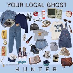who you gonna call- M Retro Outfits, Grunge Outfits, Grunge Fashion, 90s Fashion, Vintage Outfits, Cute Outfits, Fashion Outfits, Lazy Outfits, Stylish Outfits