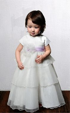White Princess Floor-length Jewel Dress [Dresses 9401] - $108.00 : - KissPromGirl.com