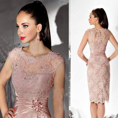 Cheap mother of bride, Buy Quality mother of the bride directly from China evening dresses knee length Suppliers:  Daily Deals                   Ocean Blue Homecoming Dresses 2016 O-Neck Beaded Rhinestones A Line Prom Chiffon Cocktail