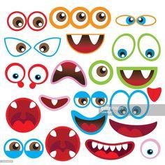Monster contour des yeux et une bouche illustration vectorielle : Clipart vectoriel