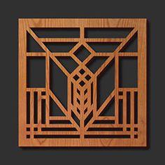 Decorative Frank Lloyd Wright Laser Cut Wood Trivets