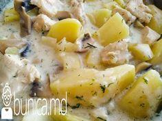 bunica.md — Cartofi cu piept de pui, ciuperci și smîntînă Cheeseburger Chowder, Soup, Soups