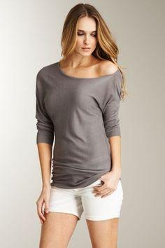 Love off-the-shoulder shirts!