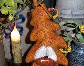 """Patti's Ratties Primitive Halloween Fall Thanksgiving 8"""" Leaf Doll Pattern 659"""