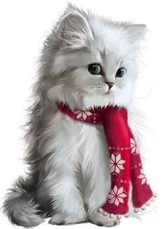 63 Ideas Cats And Kittens Christmas Pets Christmas Animals, Christmas Cats, White Christmas, Merry Christmas, Cute Cats And Kittens, Kittens Cutest, Cute Animal Drawings, Cat Wallpaper, Tier Fotos