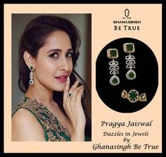 Pragya Jaiswal Dazzles in Jewels by Ghanasingh Be True At 63rd Filmfare Awards South 2016 ,Hyderabad