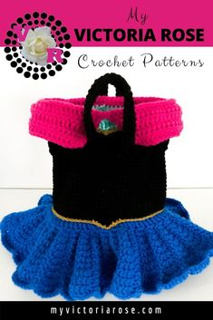 Princess Anna Crochet Purse Pattern (PDF file only) - inspired by Disney Frozen Crochet Baby Cardigan, Crochet Baby Boots, Cute Crochet, Easy Crochet, Irish Crochet, Disney Crochet Patterns, Crochet Purse Patterns, Crochet Purses, Crochet Bags