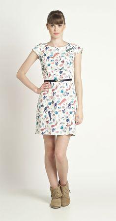 Vestido Manguinha Bichos   Vestuário   Antix Store