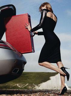 "Samantha Gradoville for Harper's Bazaar UK, October 2012- ""On The Run."""
