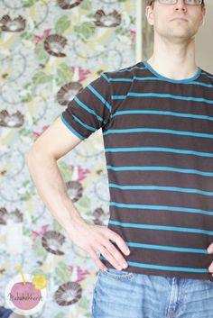Mens t-shirt from organic cotton jersey