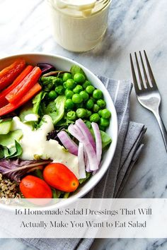 16 Homemade Salad Dressings That Will Actually Make You Want to Eat Salad   via @PureWow