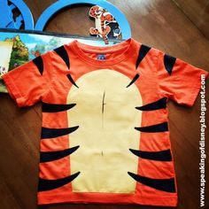 DIY Tigger T-Shirt Costume | Speaking of Disney... | Disney Halloween Costumes DIY | Disney Halloween Costumes for Kids |
