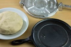 Homemade Corn Tortillas using Masa Harina. for my mom who still puts lard in hers
