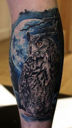 Owl by Valentine Paulauskas #InkedMagazine #owl #bird #tattoo #tattoos #Inked