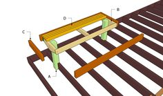 diy plan for a standard straight wooden deck bench diy projects