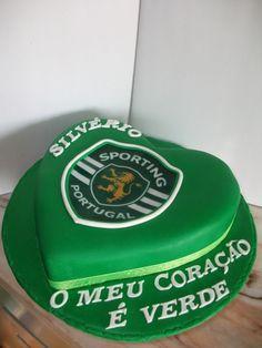 Bolo do Sporting Bolo Sporting, Bolo Do Sport, Sports Themed Cakes, Bolo Minnie, Cake Decorating, Birthday Cake, Desserts, Food, Theme Cakes