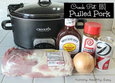 Yummy Healthy Easy: Easy Crock Pot BBQ Pulled Pork-I made this today and it's delicious! My whole family loved it. I added a little hot sauce to mine and it was perfect! I will be making this again soon Slow Cooker Recipes, Crockpot Recipes, Cooking Recipes, Bbq Pork Slow Cooker, Pork Recipes, Easy Recipes, Recipies, Receta Bbq, Crock Pot Food